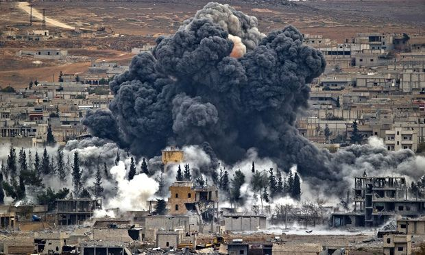 Bombing in Kobani, Syria