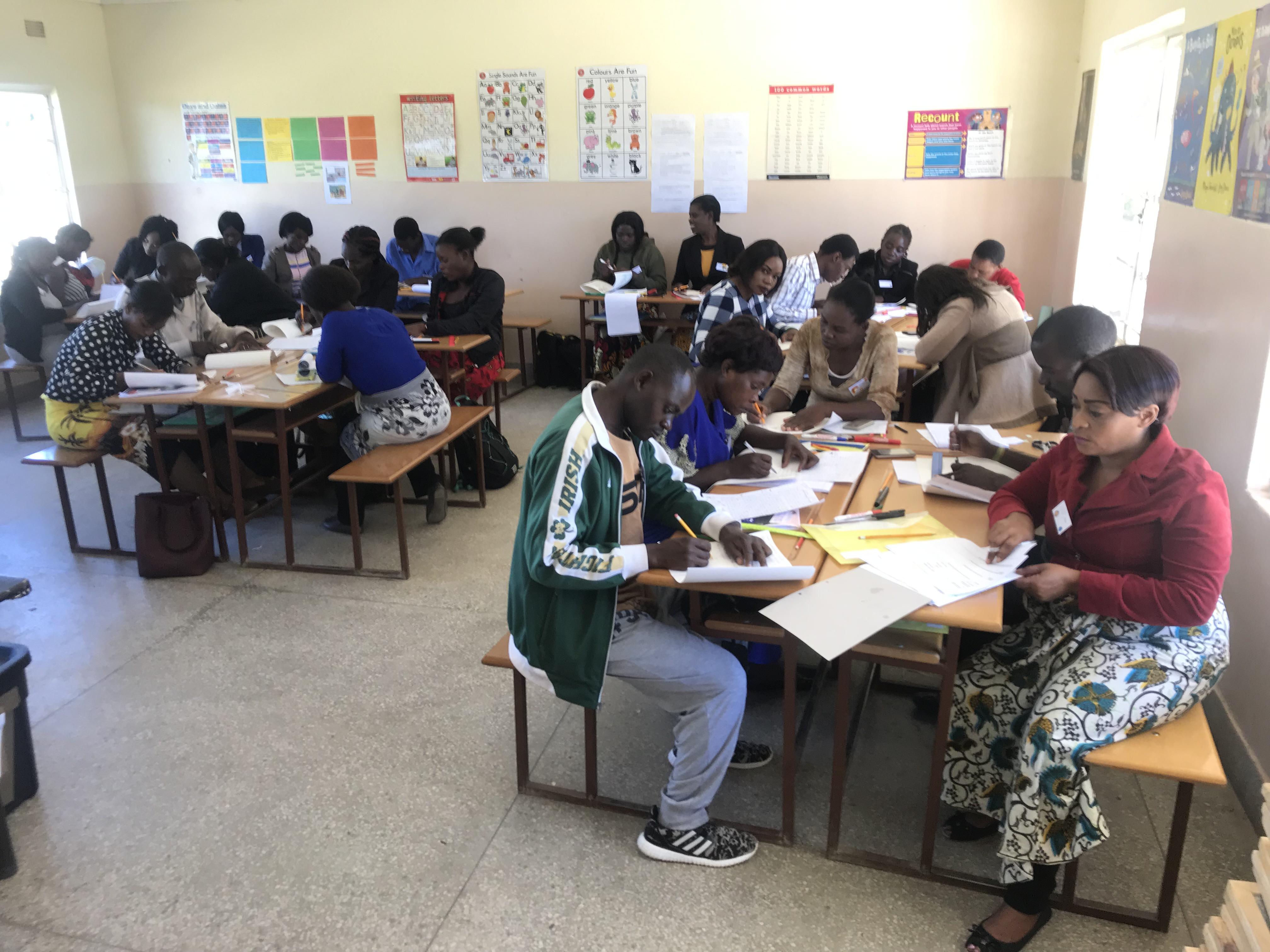 class focused on writing
