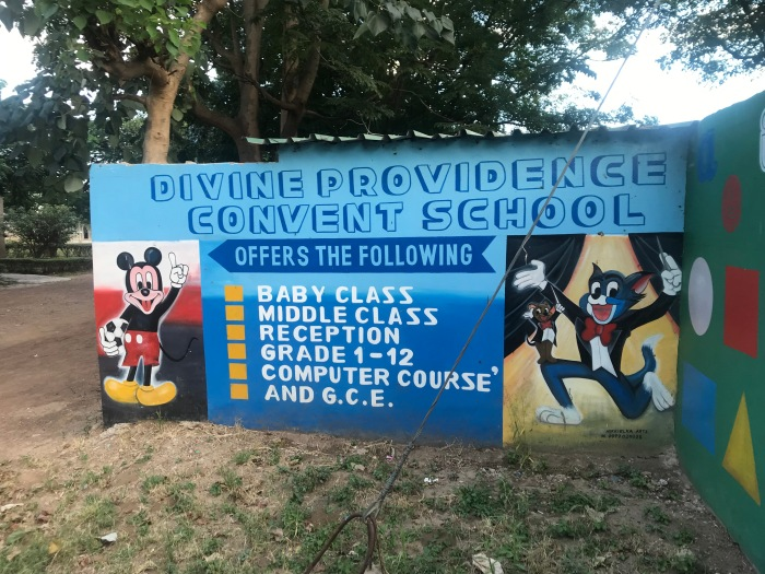 Divine Providence Convent School sign
