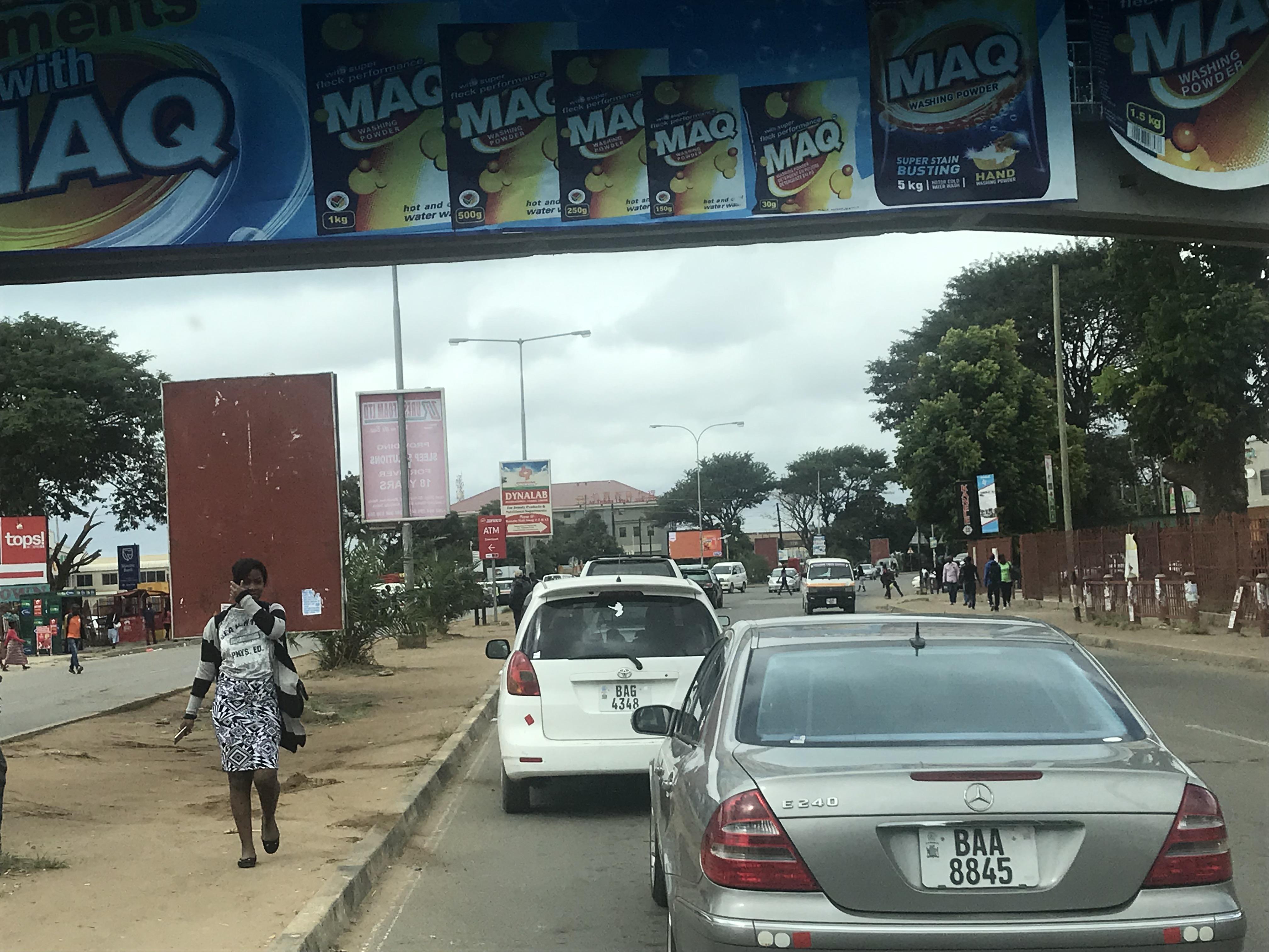 Lusaka traffic jam, detergent hoarding